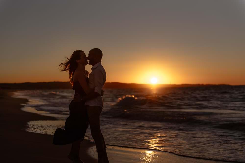 proposal in sardinia beach