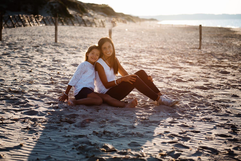Family photo on the beach near sassari