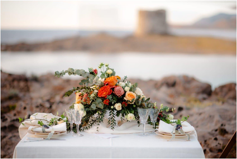 boho wedding on sardinia beach