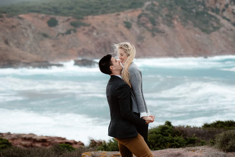 wedding proposal seaside sardinia
