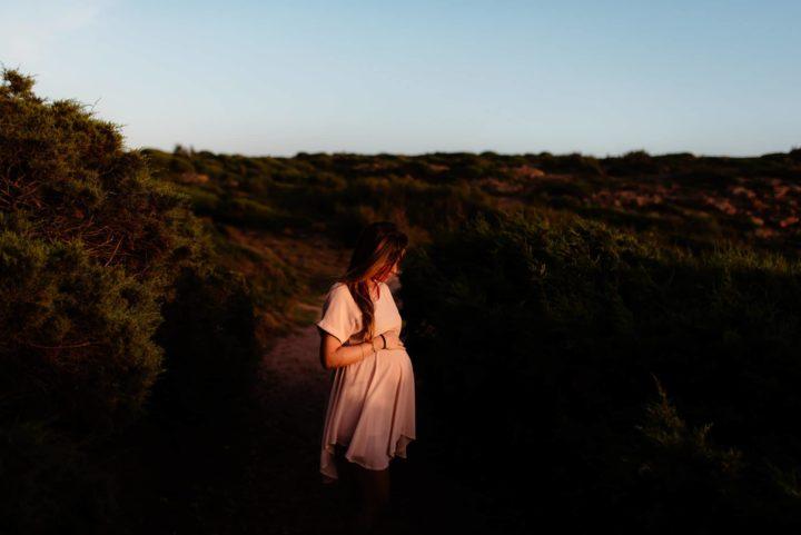 Pregnancy photography, Alghero Sardinia. In autumn