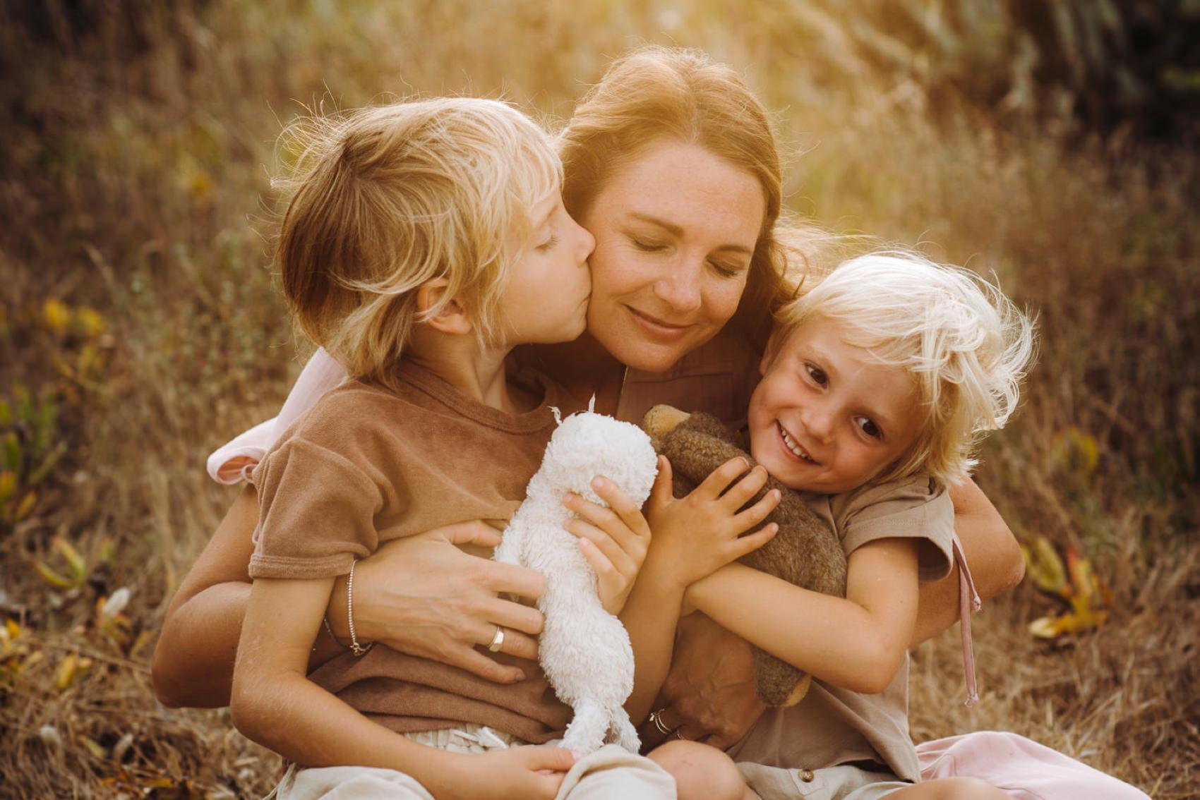 mom and son Stintino family photos