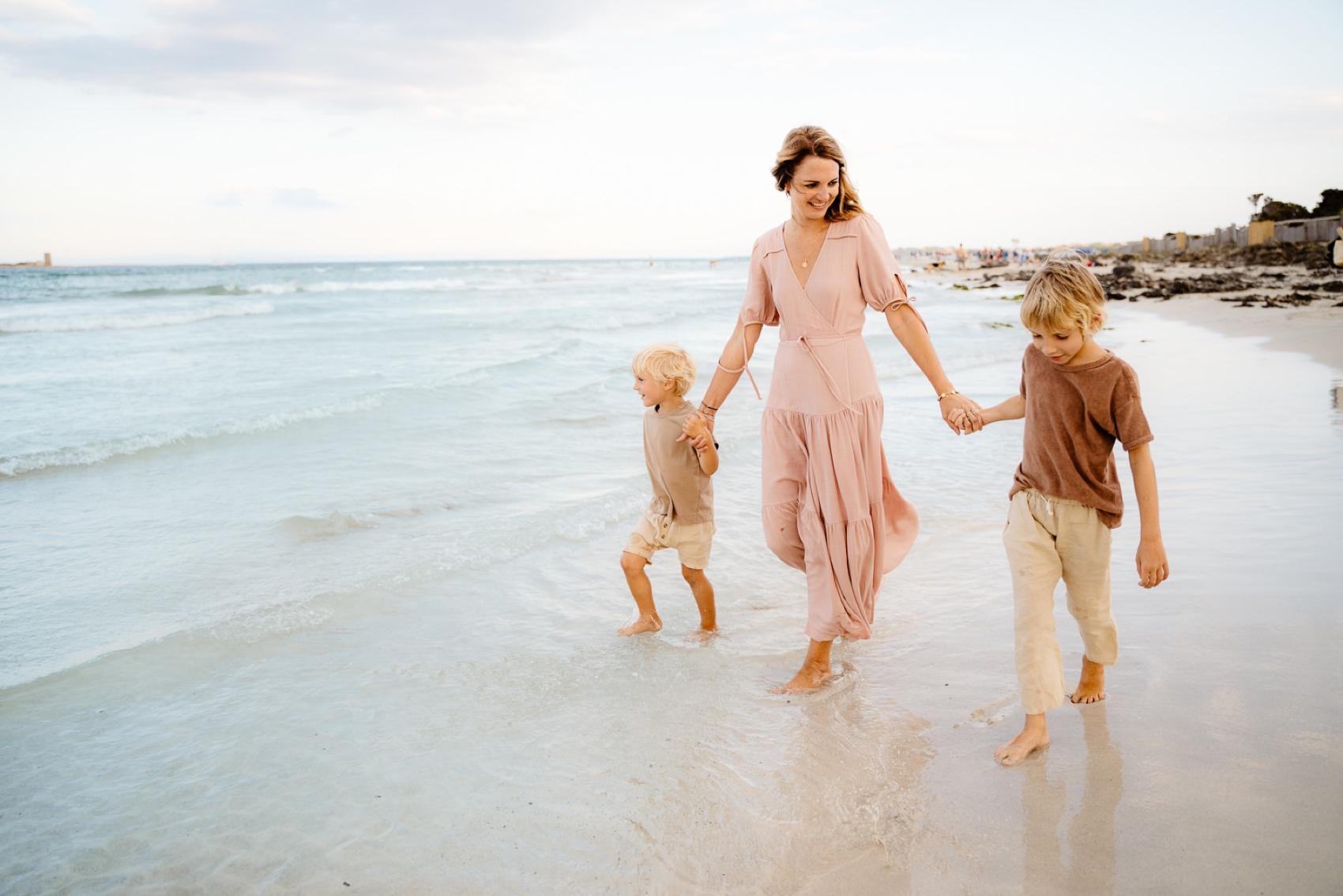 family photo beach sardinia