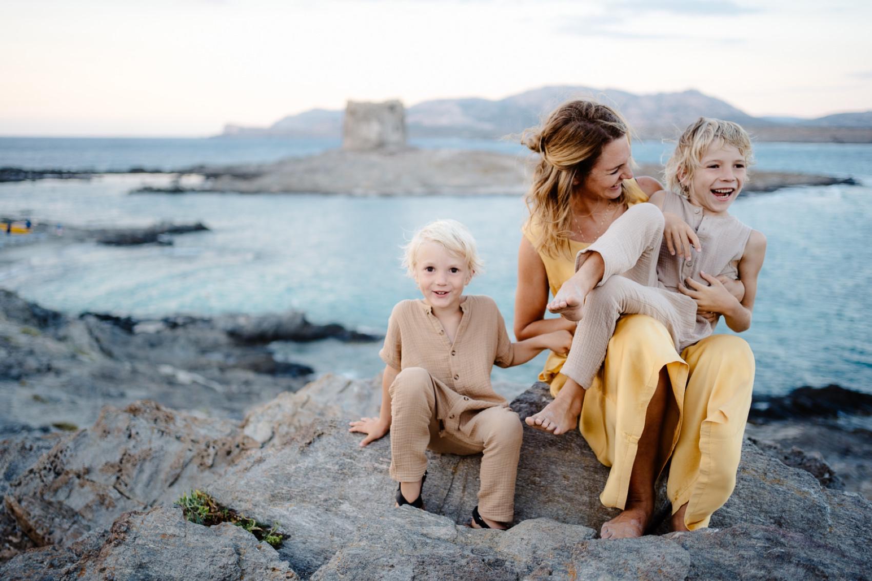 foto famiglia Stintino, sardegna